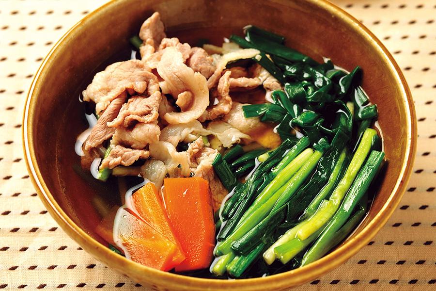 豚と野菜の柚子こしょうスープ