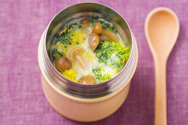 【スープジャー】ブロッコリーときのこのチャウダー レシピ・作り方