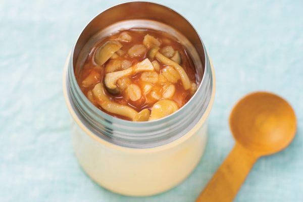 【スープジャー】きのこと押し麦のトマトスープ レシピ・作り方